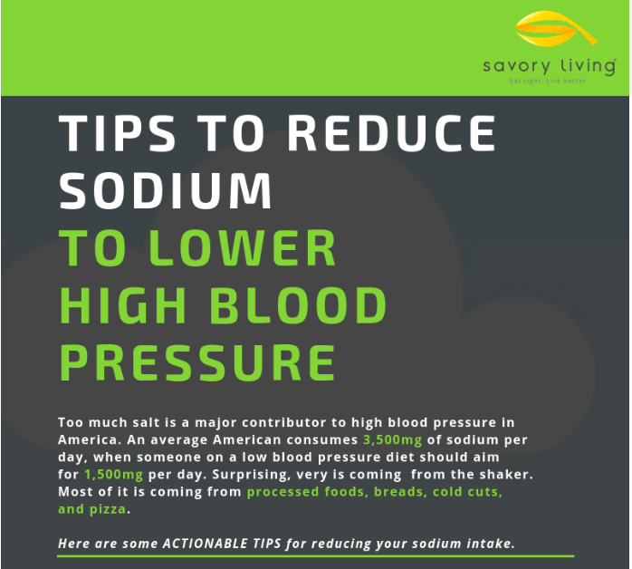 Infographic - Diet Tips To Lower Blood Pressure - Reduce Sodium Intake