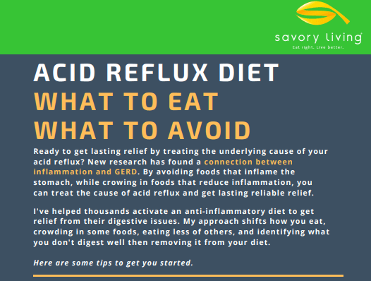 Acid Reflux Diet - Reduce Inflammation Infographic