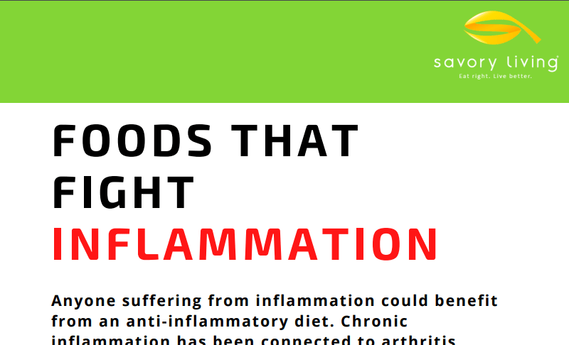 Food fghts inflammation